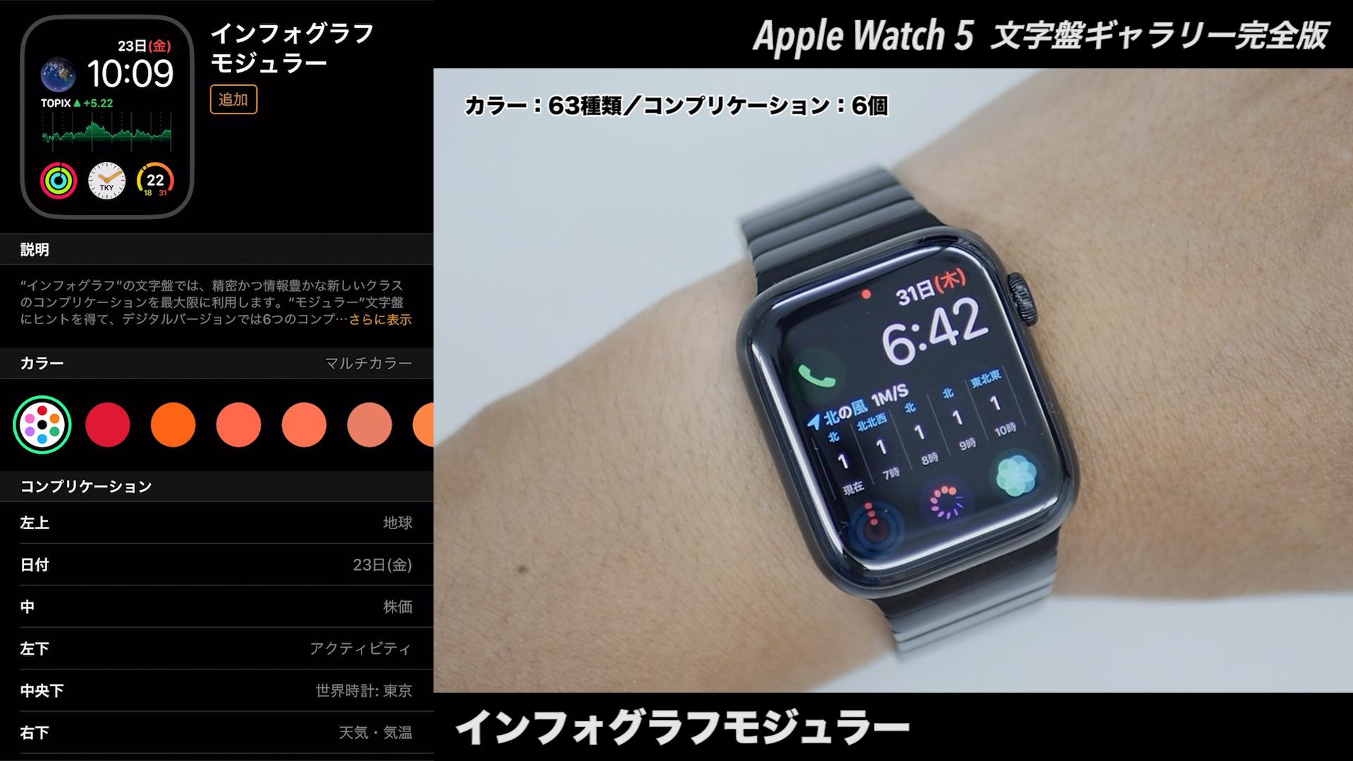 Apple Watchの文字盤 インフォグラフモジュラー