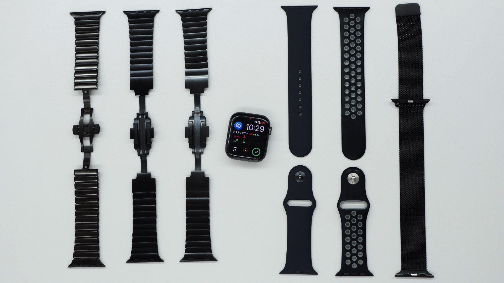 Apple Watchの黒バンド