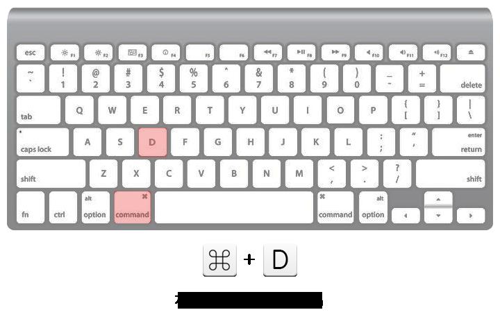 コマンド+D 選択している項目を複製(コピー)する