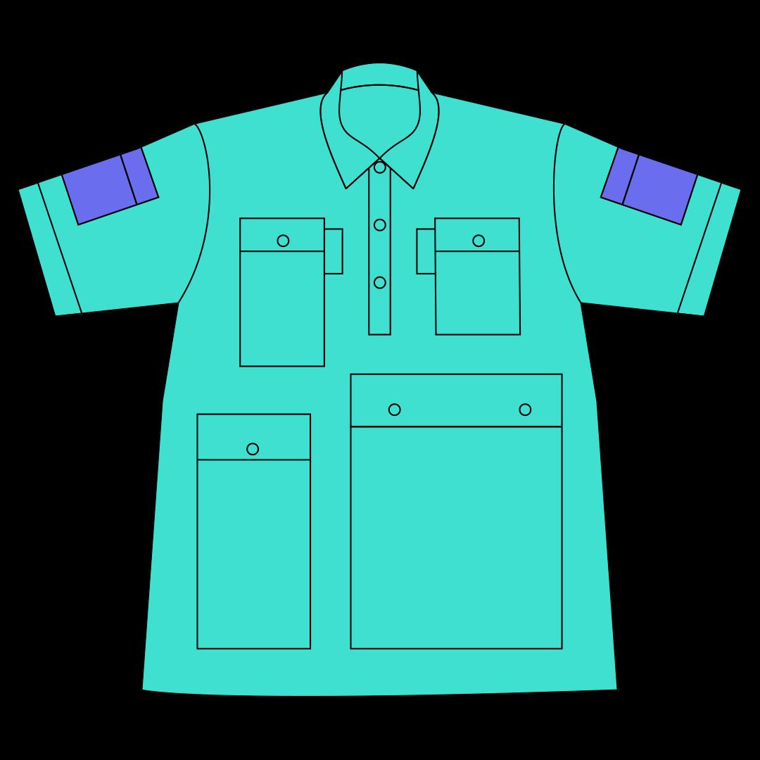 袖ポケット×2